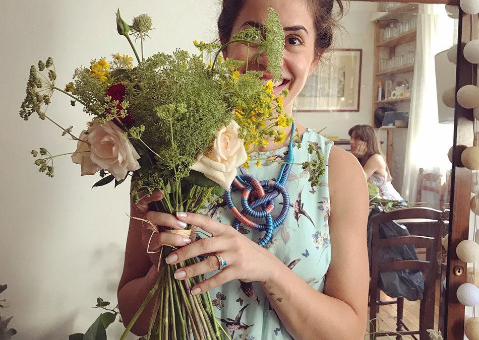 O workshop de flores que fizemos em Paris!